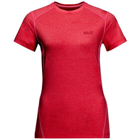 Jack Wolfskin Sky Flex T-shirt Dames, clear red
